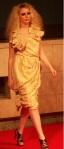 ream singed halterneck dress by Emily Jones