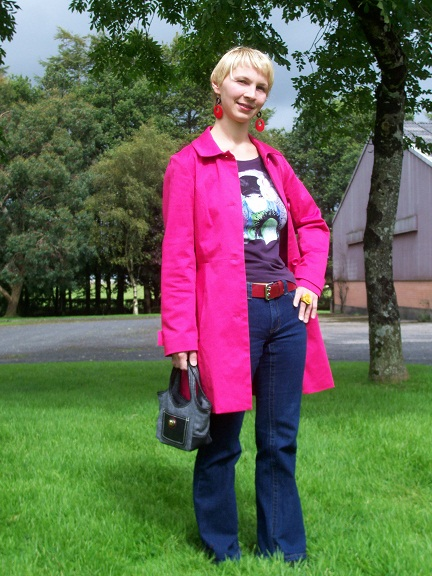 I am doing the colour clash in my favourite pink jacket I got at swopwith.me