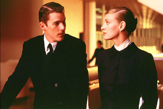 Uma Thurman and Ethan Hawke in Gattaca
