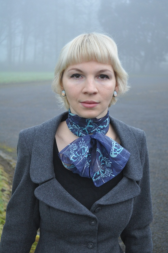 Victorian style jacket - aWear, Scarf - Penney's, Vintag eearrings - gift from my grandmother, Top - purchased 7 years ago in Hungary