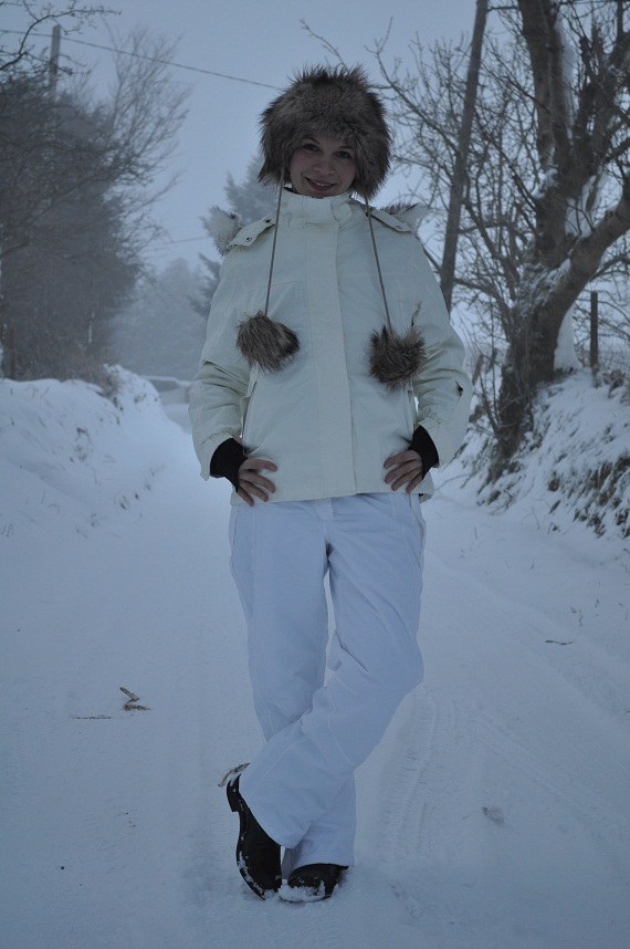 Skiing trousers (€20) and jacket (€38) from Lidl, Hunter Paddock Boots