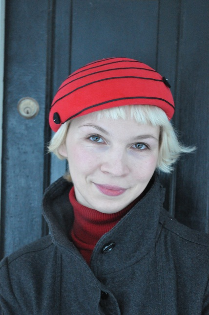 Self made velour beret by Merlixa