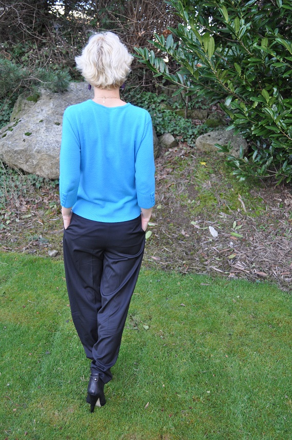 how to wear slouchy harem pants with 5 inch heels ankle boots